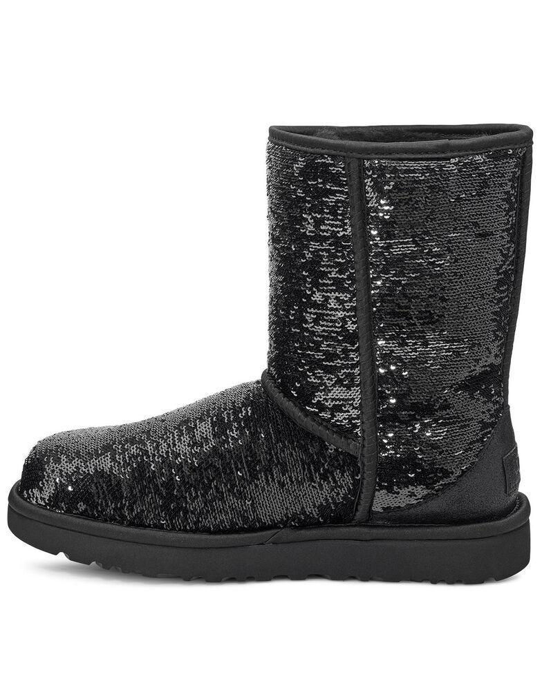UGG Women's Short Cosmos Sequin Boots, Black, hi-res