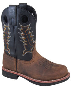 Smoky Mountain Youth Boys' Buffalo Western Boots - Round Toe, Brown, hi-res