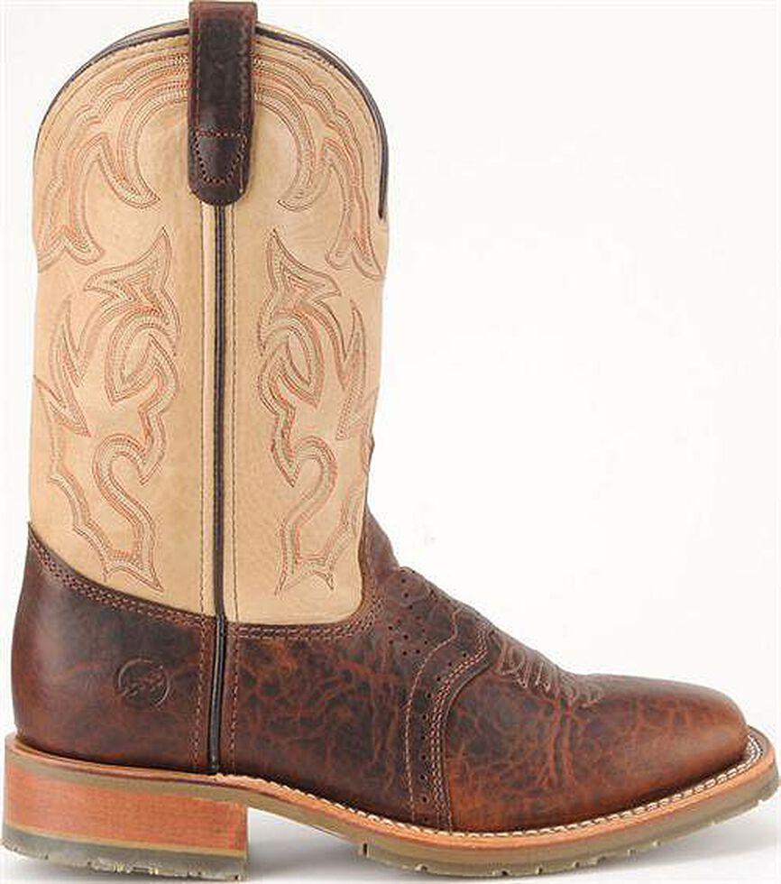 Double H Men's Ice Saddle Cowboy Boots - Square Toe, Bison, hi-res