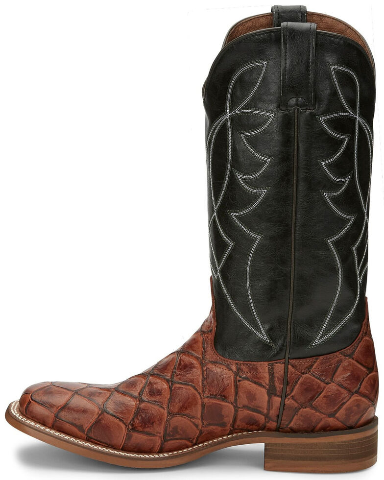 Nocona Men's Go Round Cognac Western Boots - Square Toe, Brown, hi-res