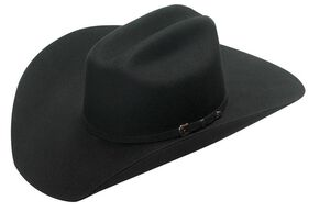 Twister Santa Fe 2X Select Wool Cowboy Hat, Black, hi-res