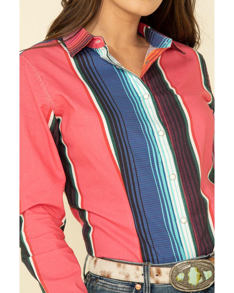 Ranch Dress'n Women's Serape Print Long Sleeve Shirt , Multi, hi-res
