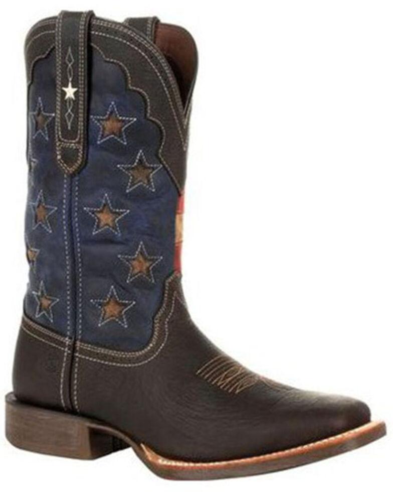 Durango Men's Rebel Pro Vintage Flag Western Boots - Square Toe, Chestnut, hi-res