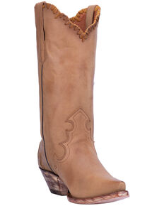 Dan Post Women's Denise Western Boots - Snip Toe, Camel, hi-res