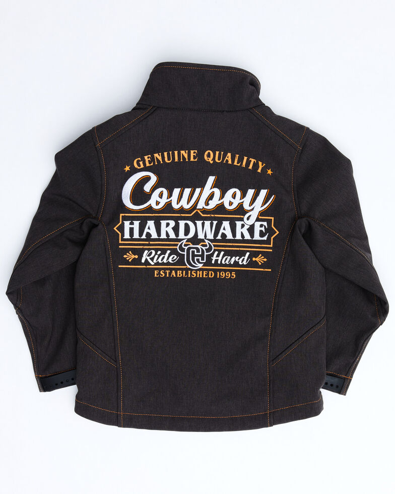 Cowboy Hardware Boys' Brown Ride Hard Poly Shell Jacket , Brown, hi-res