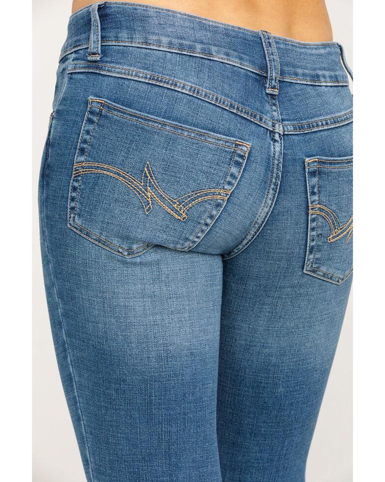 Wrangler Women's Everyday Lancaster Mid-Rise Straight Leg Jeans, Medium Blue, hi-res