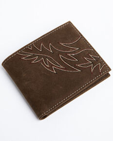 Cody James Men's Brown Horizontal Bi-Fold Leather Wallet , Brown, hi-res