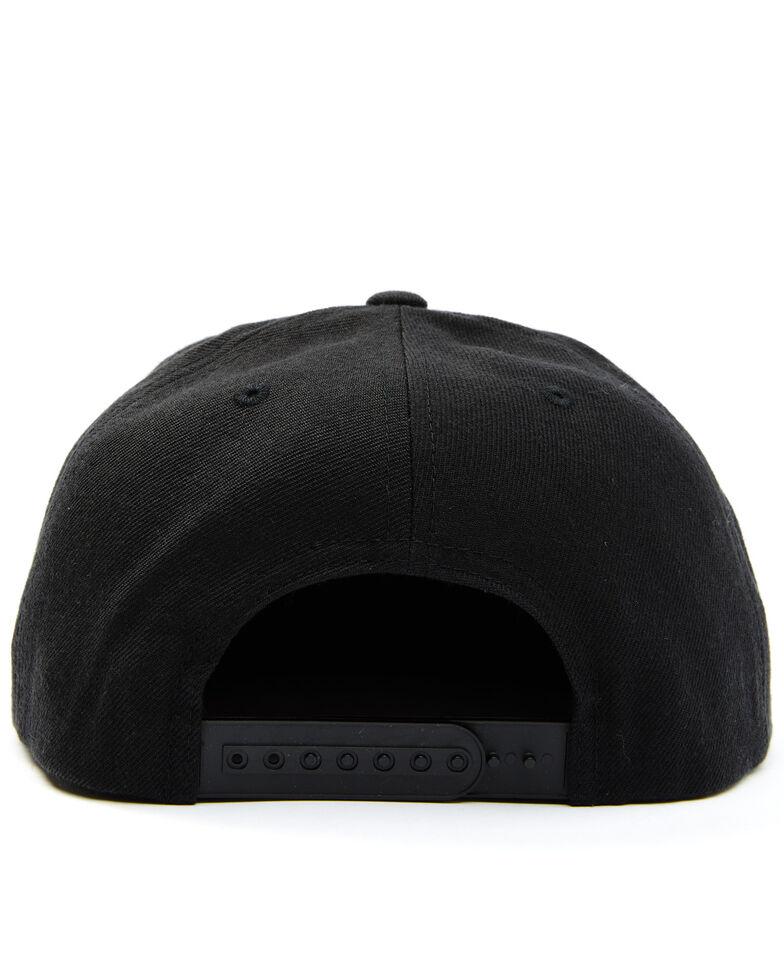 Brixton Men's Black Oath Circle Logo Canvas Back Ball Cap , Black, hi-res