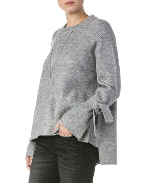Miss Me Women's Grey Lure Me In Sweater , Grey, hi-res