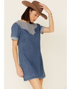 Wrangler Women's Punchy Dress, Blue, hi-res