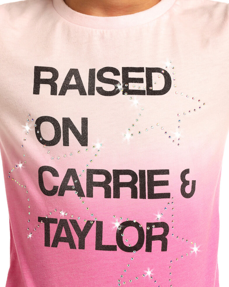 Rock & Roll Cowgirl Girls' Carrie & Taylor Tee, Pink, hi-res