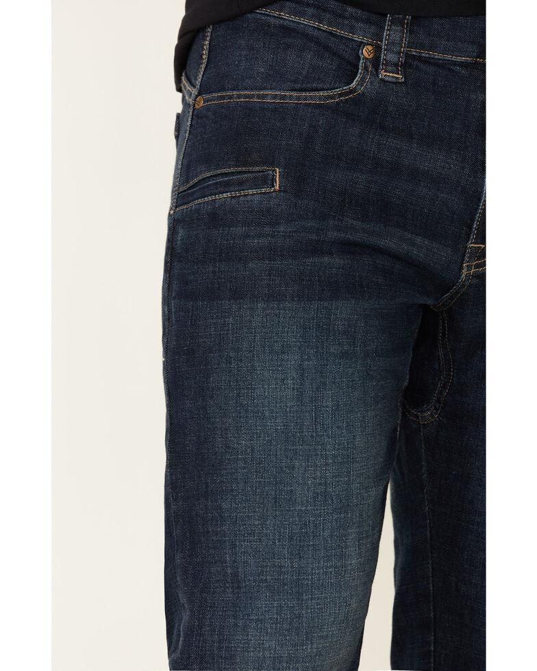 Hawx Men's Dark Wash Indigo Stretch Bootcut Work Jeans , Indigo, hi-res