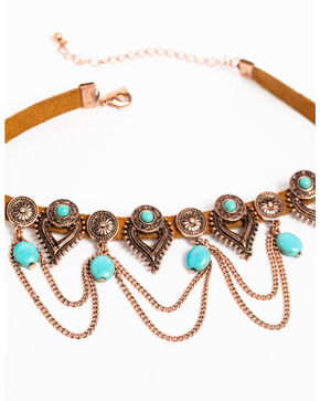 Shyanne Women's Wanderlust Chain Loop Choker , Tan/copper, hi-res