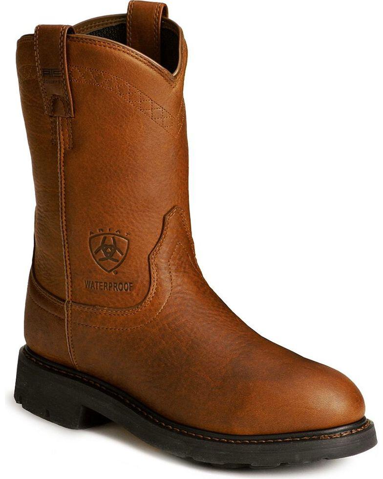 Ariat Sierra H2O Waterproof Work Boots, Sunshine, hi-res