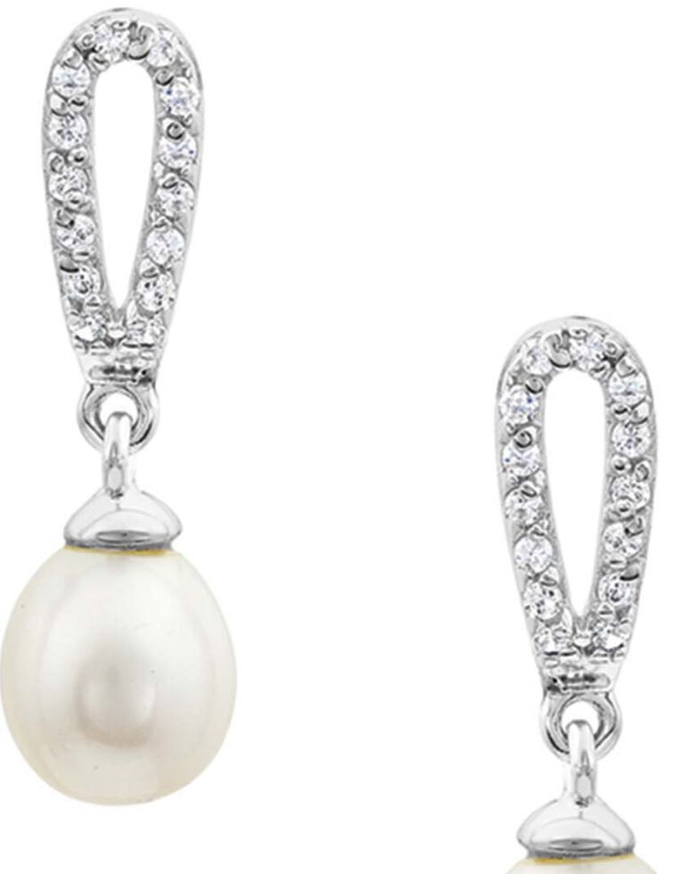 Montana Silversmiths Women's Eye Catcher Drop Earrings, White, hi-res