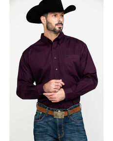Cinch Men's Purple Woven Geo Print Long Sleeve Western Shirt , Purple, hi-res