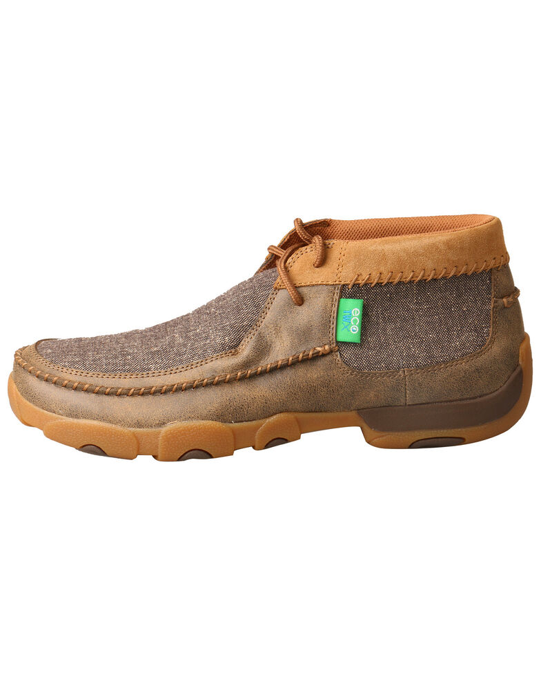 Twisted X Men's Driving Moccasin Shoes - Moc Toe, Brown, hi-res