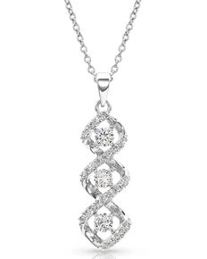 Montana Silversmiths Women's Lassoed Starlight Necklace, Silver, hi-res