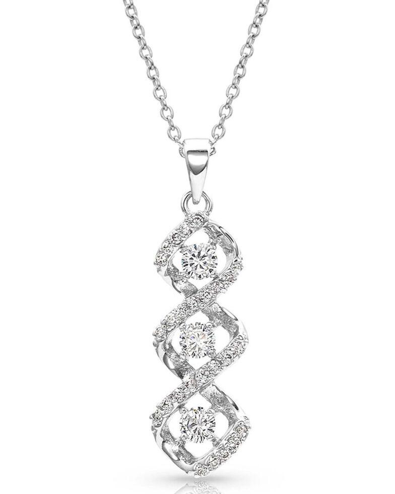 Montana Silversmiths Women's Lassoed Starlight Necklace, Silver, hi-res