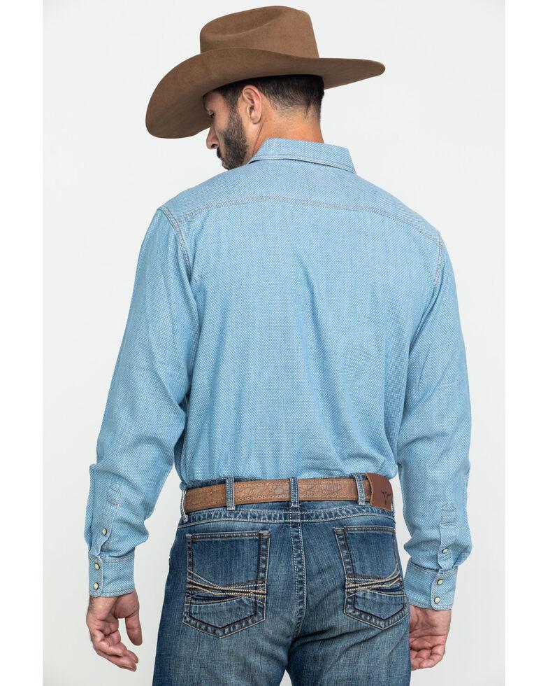 Ariat Men's Johnstown Retro Geo Print Long Sleeve Western Shirt , Blue, hi-res