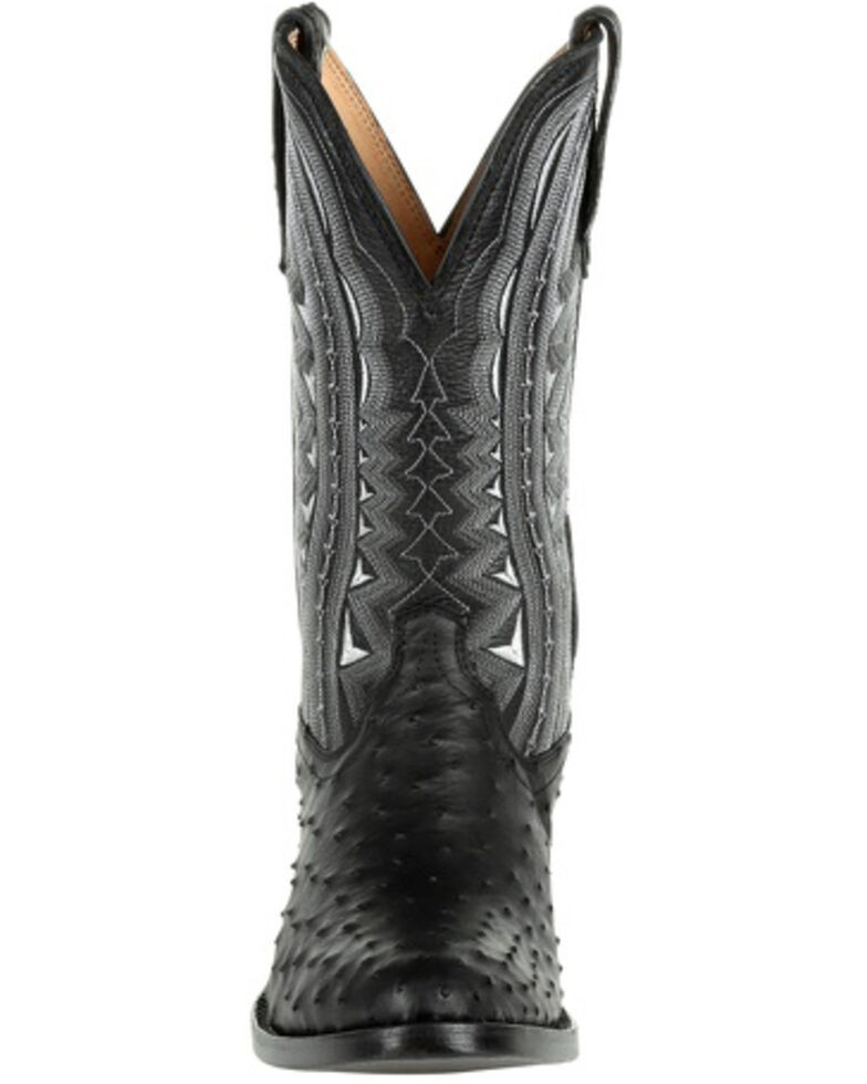 Durango Men's Black Full-Quill Ostrich Western Boots - Round Toe, Black, hi-res