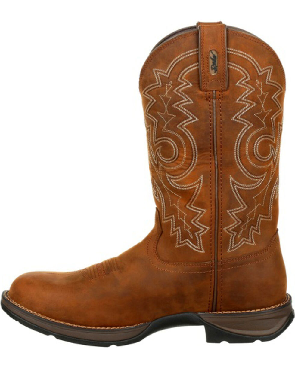 Durango Rebel Men's Brown Waterproof Western Boots - Round Toe , Brown, hi-res
