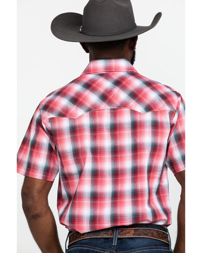 Wrangler Retro Men's Red Small Plaid Short Sleeve Western Shirt , Red, hi-res