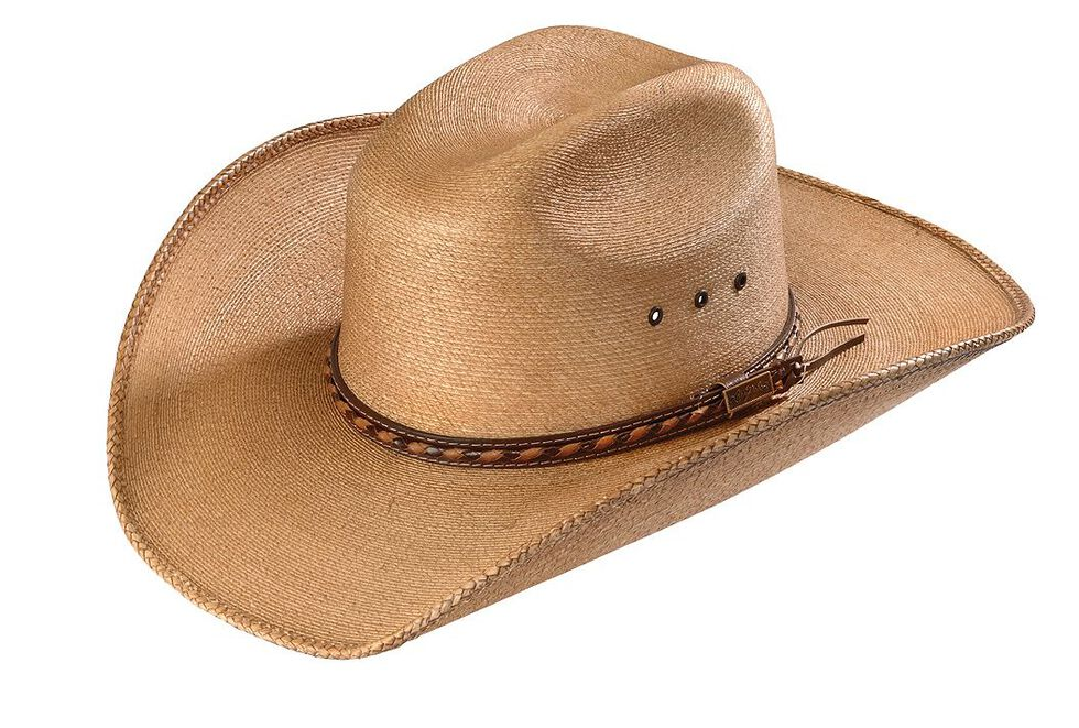 Larry Mahan 30X Lawton Palm Straw Cowboy Hat, Tan, hi-res