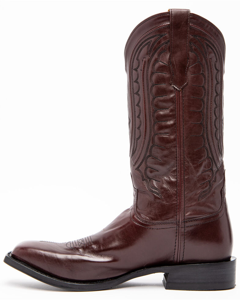 Twisted X Men's Rancher Western Boots - Wide Square Toe, Brown, hi-res