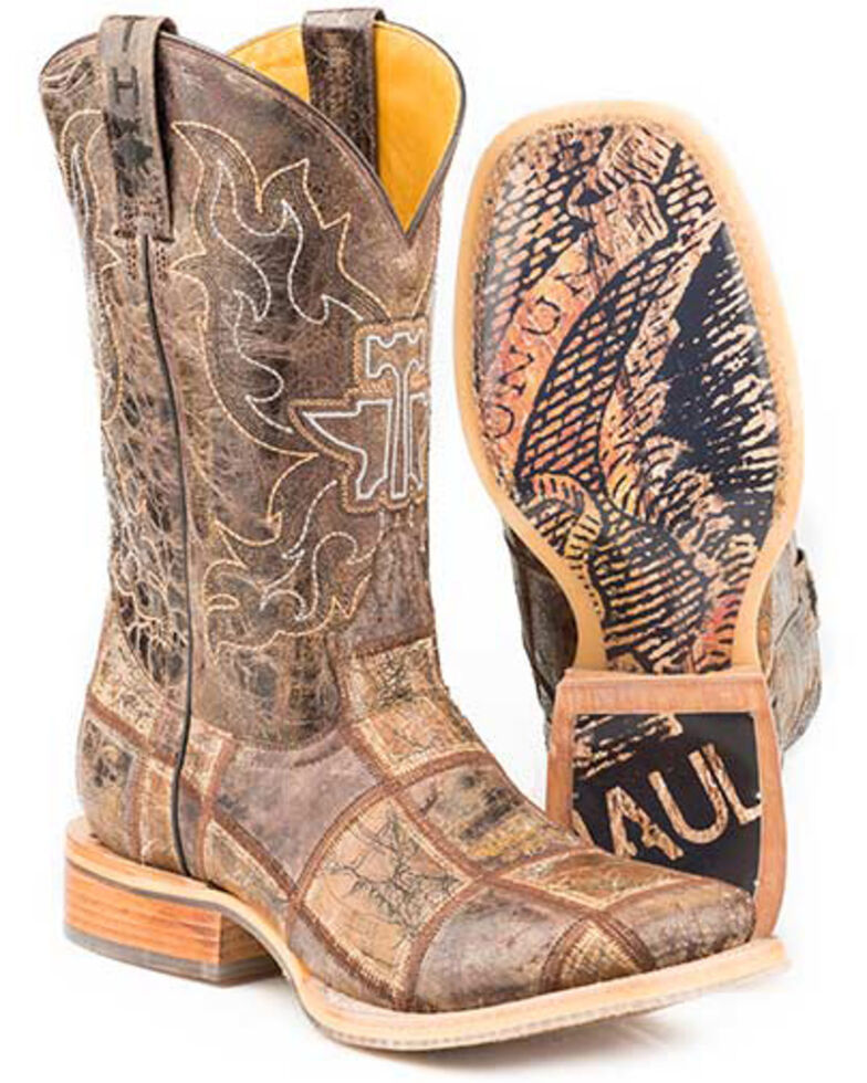 Tin Haul Men's Money Maker Western Boots - Square Toe, Brown, hi-res