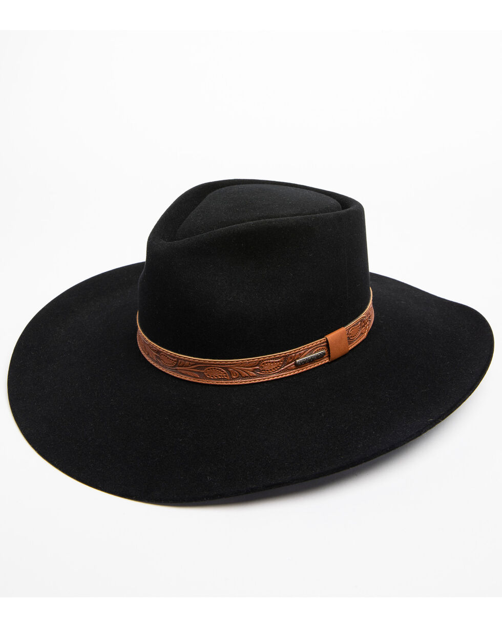 Stetson Men's Longmont 6x Felt Cowboy Hat, Black, hi-res