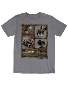 Wrangler Men's Snapshot Graphic T-Shirt , Grey, hi-res