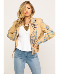 Double D Ranch Women's String West of Rio Jacket, Tan, hi-res