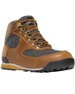 Danner Men's Elk Brown Jag Wool Lace Up Boots - Round Toe, Brown, hi-res