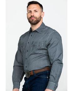 Cinch Men's Modern Diamond Geo Print Long Sleeve Western Shirt , Navy, hi-res