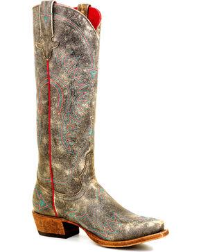 Macie Bean Women's Black Don't Mockingbird Me Boots - Snip Toe , Black, hi-res