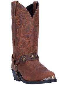 Dan Post Men's Harness Strap Western Boots - Medium Toe, Brown, hi-res