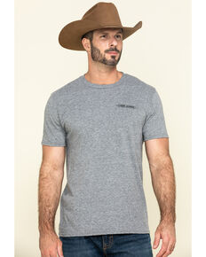 Cody James Men's Rodeo Take No Bull Graphic Short Sleeve T-Shirt , Heather Grey, hi-res