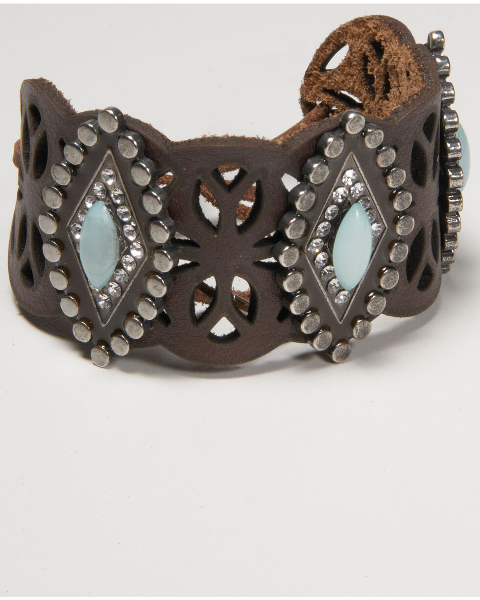Cowgirl Confetti Women's Trail of The Tides Cuff, Turquoise, hi-res
