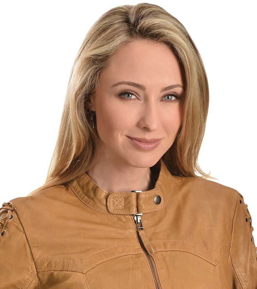 Scully Leather Laced Sleeve Jacket, Tan, hi-res