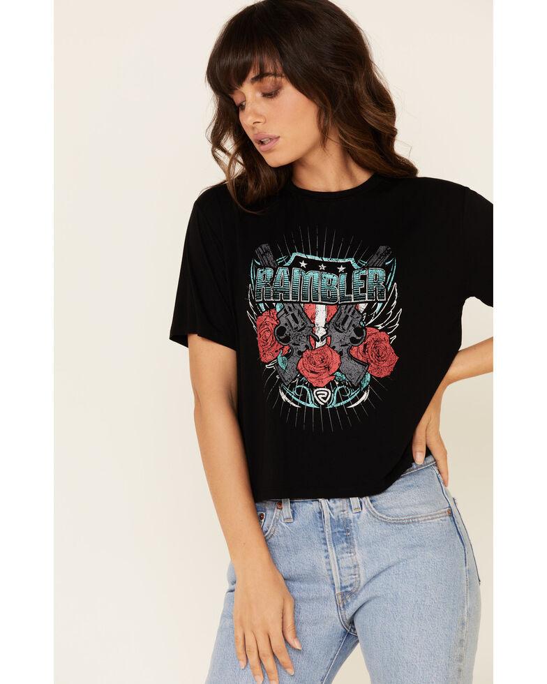 Rock & Roll Denim Women's Rambler Guns & Roses Graphic Tee , Black, hi-res