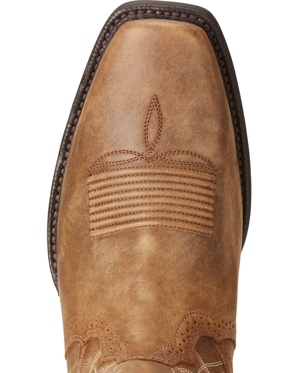 Ariat Men's Downtown Legend Cowboy Boots - Square Toe, Tan, hi-res