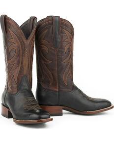 Stetson Men's Black Calf Sheridan Western Boots - Square Toe , Black, hi-res