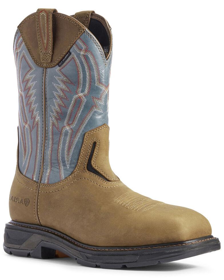Ariat Men's Dare Workhog Western Work Boots - Composite Toe, Brown, hi-res
