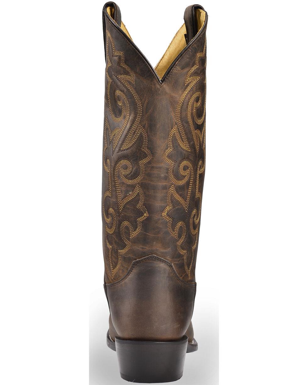 Justin Men's Bay Apache Leather Cowboy Boots - Medium Toe, Brown, hi-res