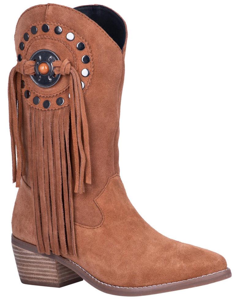 Dingo Women's Takin' Flight Western Boots - Round Toe, Tan, hi-res