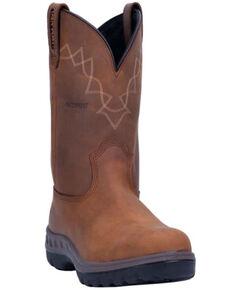 Dan Post Men's Cummins Waterproof Western Work Boots - Steel Toe, Tan, hi-res