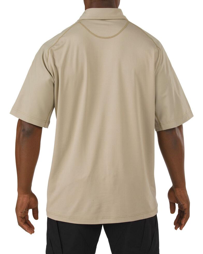 5.11 Tactical Rapid Performance Short Sleeve Polo Shirt - 3XL, Tan, hi-res