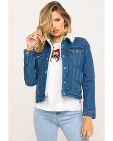 Levi's Women's Brick & Mortar Original Trucker Jacket , Blue, hi-res