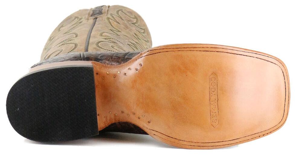 Cody James Men's Crackled Caiman Exotic Boots - Square Toe, Brown, hi-res